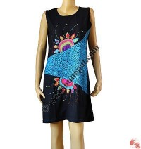 Patch and prints joined sinkar dress