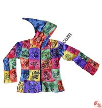 Kids tie-dye patches brush painted Jacket