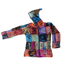 Kids patch-work rib Jacket 3