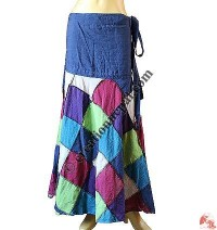 Tile design patch open wrapper skirt