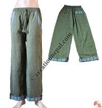Stripes fold cotton trouser