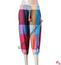 Check khaddar quarter trouser