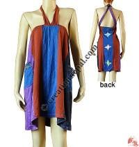 4-color join sinkar halter dress
