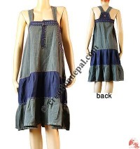 2-color joined hand Emb. dress