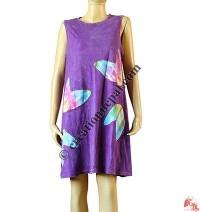 Boomerang patch sleeveless dress