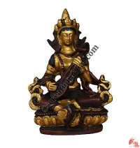 Saraswati Copper-gold painted Resin