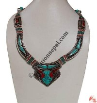 Turquiose-colral Tibetan necklace3