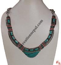 Turquoise beads Tibetan necklace