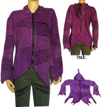 Purple rib jacket
