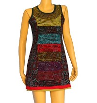 Sleevesless printed sinkar dress