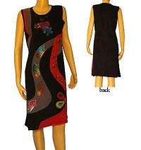 Butterfly and flower emb dress