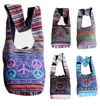 Peace design Gheri cotton bag