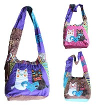 Cats design Shyama cotton bag