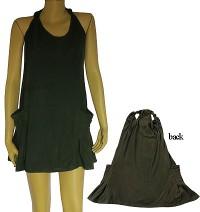 Solid color sleeve mini dress