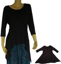 Drape Front viscose dress 2
