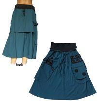 2-layer unique fine cotton skirt