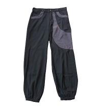 Simple 2-color joined fine cotton pant