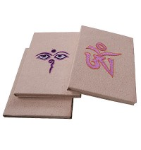 Embroidered cotton cover notebook2