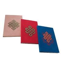 Endless knot print  Lokta notebook