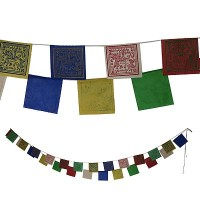 Lungta: tiny paper prayer flags- 25 leaf