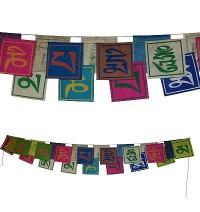 Mantra: paper small prayer flags- 25 leaf