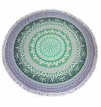 Cotton mandala printed Round Table cover1