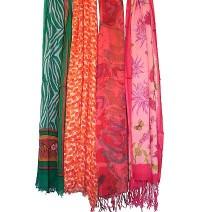 Silky rayon printed shawls