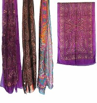 Printed thin silk scarf
