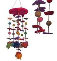 Felt elephants chandelier