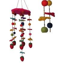 Felt Strawberry chandelier