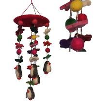 Felt Penguin chandelier1