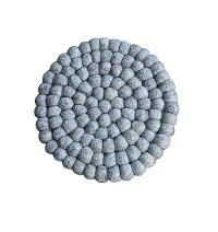 Grey colour felt balls Plate Mat