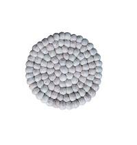 Light Grey colour felt balls Plate Mats