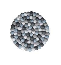 Natural mixed colour felt balls Plate Mat