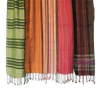 Cotton assorted color-pattern scarves