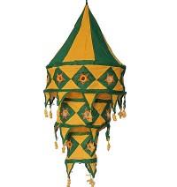 Medium size cotton Green jhumar lamp shade