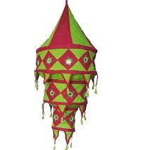Medium size cotton Red jhumar lamp shade