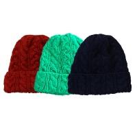 Cable design woolen assorted cap