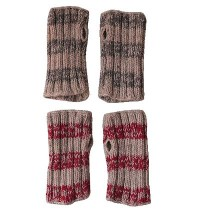2 x 2 knit tube gloves