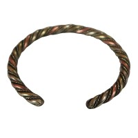Braided mixed metal simple bangle