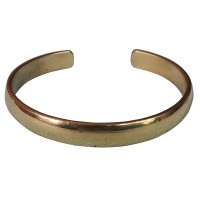Plain brass bangle