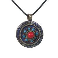 Beads flower round pendent1