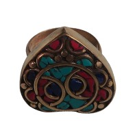 Decorated Heart brass Finger ring