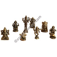 Assorted Ganesh tiny statue