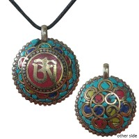 Colorful 2-side decorated ball pendent