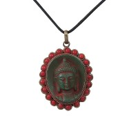 Beads decorated Buddha icon pendent