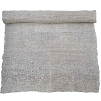 Washed natural white hemp fabric