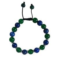 Jade and Lapis 10mm beads bracelet