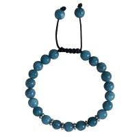 Light blue onyx beads bracelet