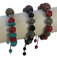 Decorated beads assorted bracelet